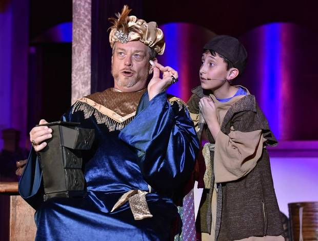 "Mark Johnson, left, and Austin Rindler appear in Painted Sky Opera's production of ""Amahl and the Night Visitors,"" which returns for its third year at 7 p.m. Dec. 11 and 2 p.m. Dec. 12 at Freede Little Theatre at Civic Center Music Hall. [Photo provided]"