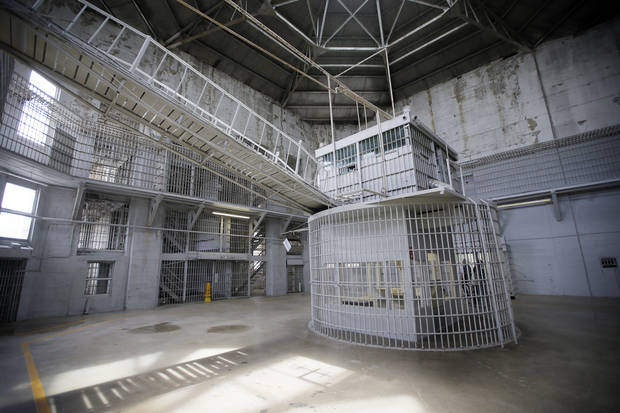 The rotunda at the Oklahoma State Penitentiary in McAlester, Okla., Thursday, Aug. 18, 2016. Photo by Nate Billings, The Oklahoman