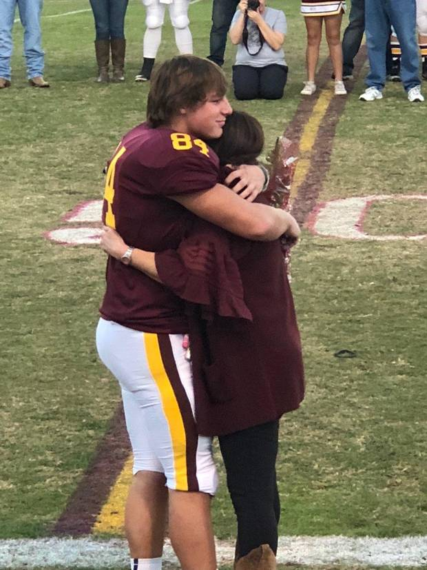 Clinton senior Holden Powell playing for dad