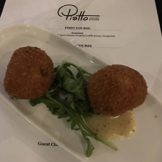 Arancini made with spaghetti squash instead of risotto served during chef Matthew Johnson's pop-up at Piatto Italian Kitchen on Sunday. [Dave Cathey/The Oklahoman]