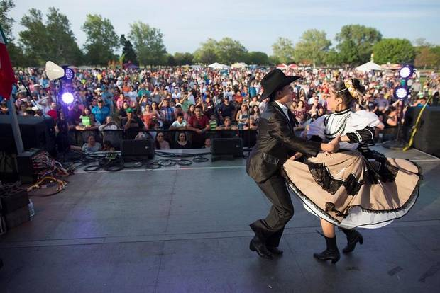 Live music and dance will be among the festivities at one of Oklahoma's largest Cinco de Mayo festivals, set for today at Wiley Post Park. [Photo provided]