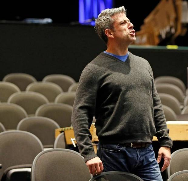 "Director Michael Baron gives instructions during a rehearsal for Lyric Theatre's new musical ""Mann ... and Wife."" Photo by Nate Billings, The Oklahoman"