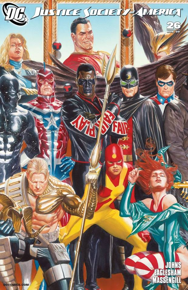 Alex Ross' cover to Justice Society of America #26.