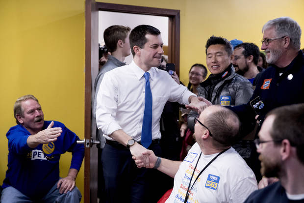 The Latest: Buttigieg in NH after overnight flight from Iowa