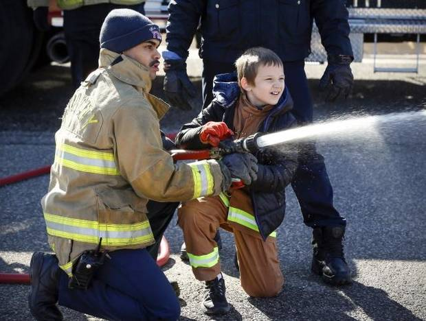 OKC firefighters host special-needs youth