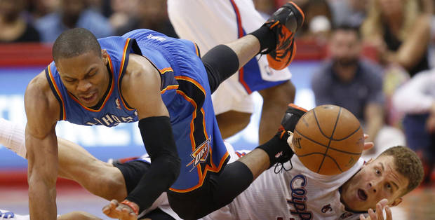 The Thunder and Clippers are intent on keeping Russell Westbrook and Blake Griffin. Photo by Nate Billings, The Oklahoman