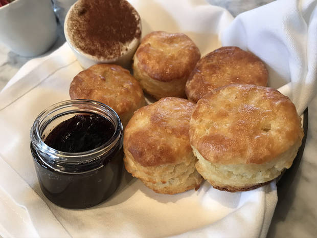 House-made biscuits with jam and butter at The Jones Assembly in Oklahoma City. [Dave Cathey/The Oklahoman]