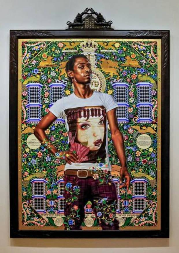 """Benediter Brkou"" by artist Kehinde Wiley is on view in the exhibit ""Kehinde Wiley: A New Republic"" at the Oklahoma City Museum of Art in Oklahoma City. Photo by Chris Landsberger, The Oklahoman"