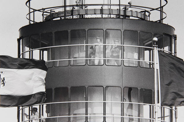 The observation tower at the state fairgrounds in the 1960s.