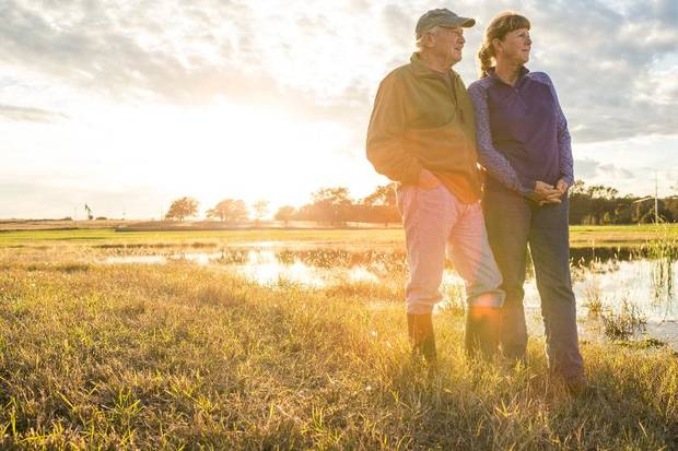 Gale and Don Mace look out on their restored Seminole County land. (Photo provided by OERB)