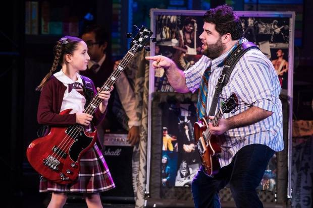 "Rob Colletti, right, and Theodora Silverman appear in the national touring production of the musical ""School of Rock."" Photo provided by Matthew Murphy"