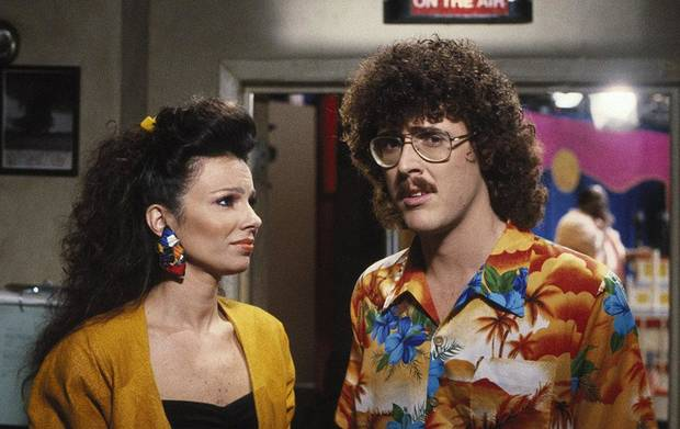 "Fran Drescher and 'Weird Al' Yankovic star in the Tulsa-made cult classic ""UHF."" [Shout! Factory photo]"