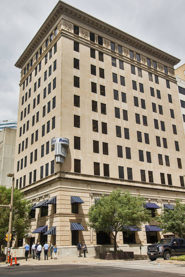 The BancFirst building located at 101 N. Broadway in downtown Oklahoma City, Okla. on Monday, Aug. 14, 2017. Jerry Drake Varnell, 23, of Sayre, was arrested Saturday in connection with what authorities says is a foiled plot to blow up the bank building in Downtown Oklahoma City with a truck filled with fake explosives. Photo by Chris Landsberger, The Oklahoman