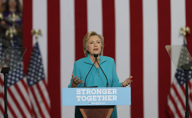 Democratic presidential candidate Hillary Clinton speaks at a campaign event on Aug. 25 at Truckee Meadows Community College in Reno, Nev. (AP Photo/Carolyn Kaster)