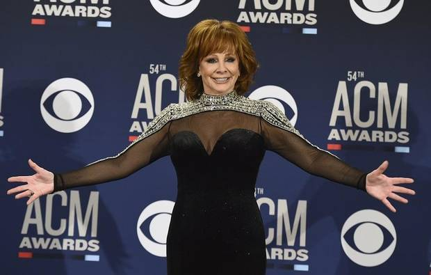Reba McEntire poses in the press room at the 54th annual Academy of Country Music Awards at the MGM Grand Garden Arena on Sunday, April 7, 2019, in Las Vegas. (Photo by Jordan Strauss/Invision/AP)