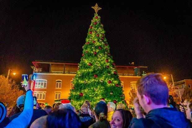 The official kickoff for Downtown in December, the OKC Tree Lighting Festival features diverse performance groups, Santa Claus and the mayor. This year's event is set for 5 to 7 p.m. Saturday on the Third Base Plaza at the Chickasaw Bricktown Ballpark. [Photo provided]