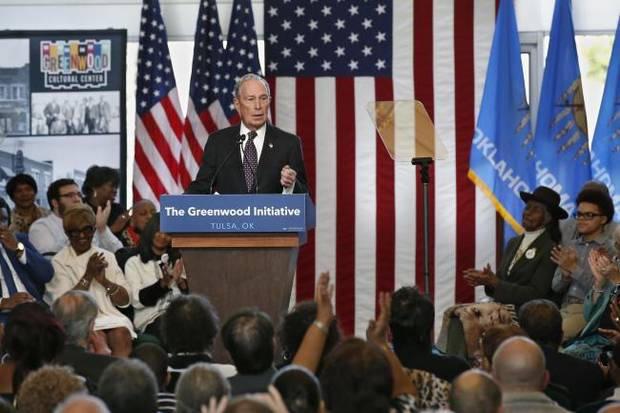 Democratic presidential candidate Bloomberg woos black voters