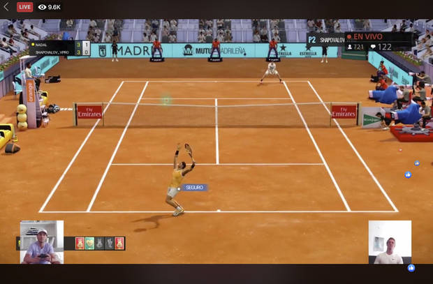 Injury, glitches as Madrid Open tennis presents COVID gaming