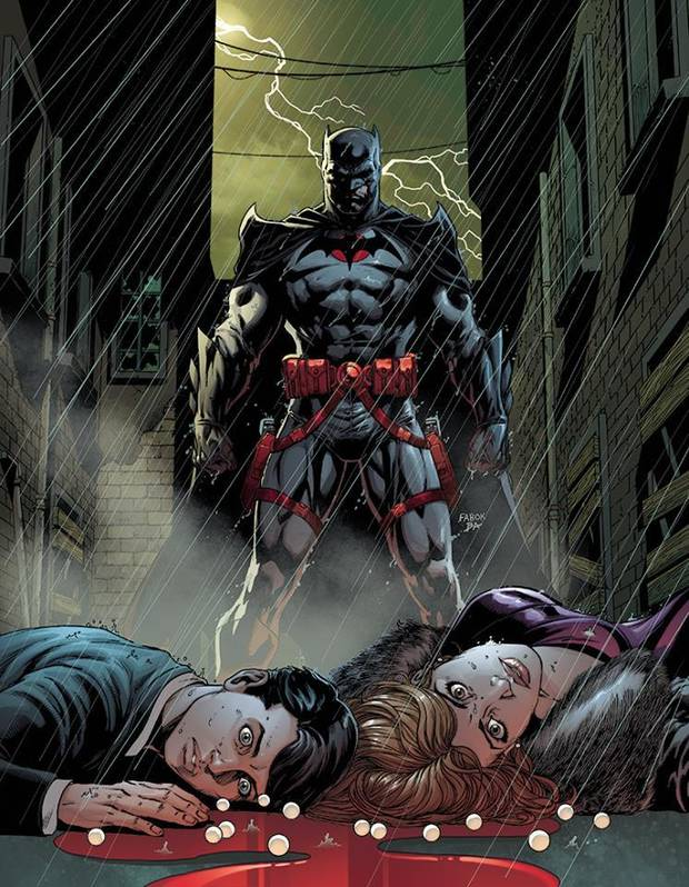 "Art by Jason Fabok from ""Batman"" #22 was revealed at the ComicsPRO retailer meeting"