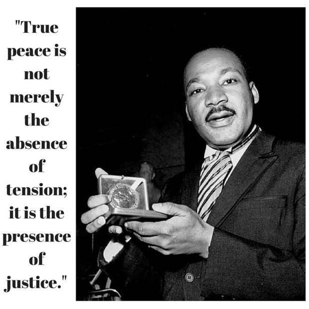 In the photo above, taken Dec. 10, 1964, civil rights leader Dr. Martin Luther King, Jr. holds his 1964 Nobel Peace Prize medal in Oslo, Norway. [Associated Press photo] Quote from: Stride Toward Freedom, 1958