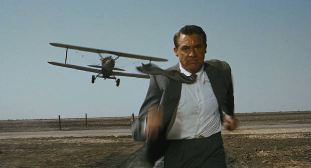 "Cary Grant in ""North by Northwest."""