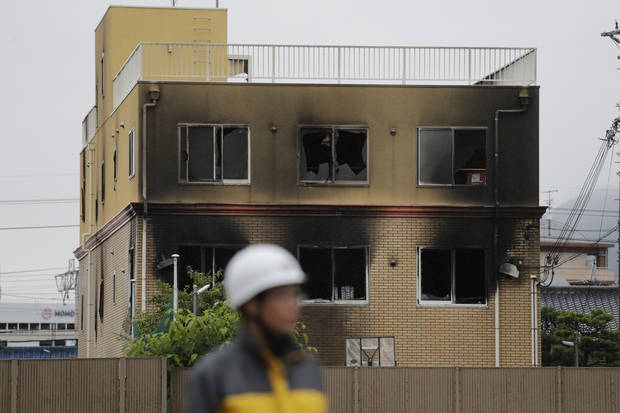 Man shouting You die kills 33 in Japan anime studio fire