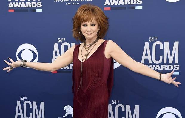 Reba McEntire arrives at the 54th annual Academy of Country Music Awards at the MGM Grand Garden Arena on Sunday, April 7, 2019, in Las Vegas. (Photo by Jordan Strauss/Invision/AP)