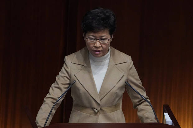 Hong Kong leader says special status can endure beyond 2047