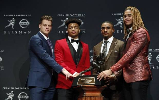'Hungry? I'd say starving': Jalen Hurts says Sooners are focused on bigger trophies after his Heisman runner-up finish