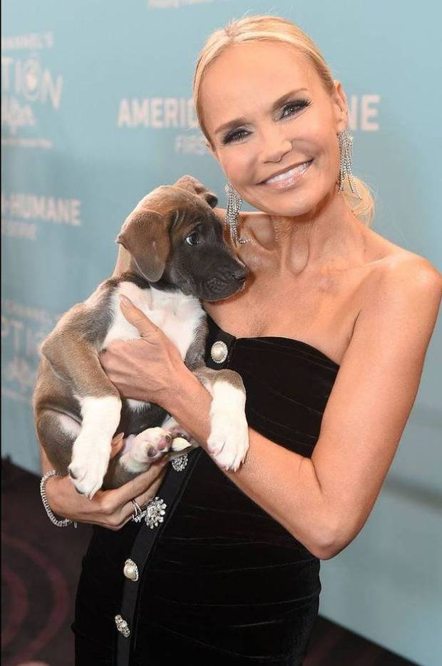 Oklahoma native Kristin Chenoweth was honored with the Adoption Ever After Award Saturday at the 2019 American Humane Hero Dog Awards. [Photo by Jordan Strauss/Invision for American Humane/AP Images]
