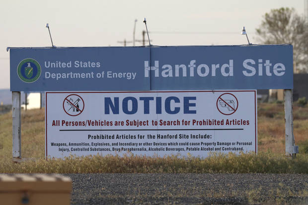 Crews cover partially-collapsed tunnel at nuclear site