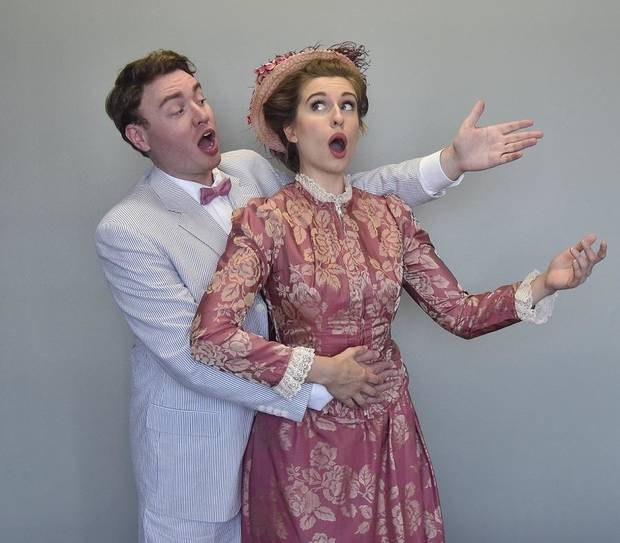 "Mary Beth Nelson and Isaac Frishman star in Painted Sky Opera's ""The Barber of Seville"" on Sept 20, 22, and 27. [Mutz Photography]"