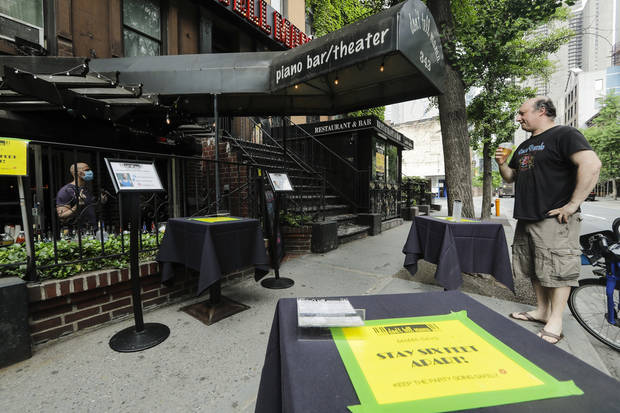 Pop-up bar scene, tanning salon test shutdown rules in NYC