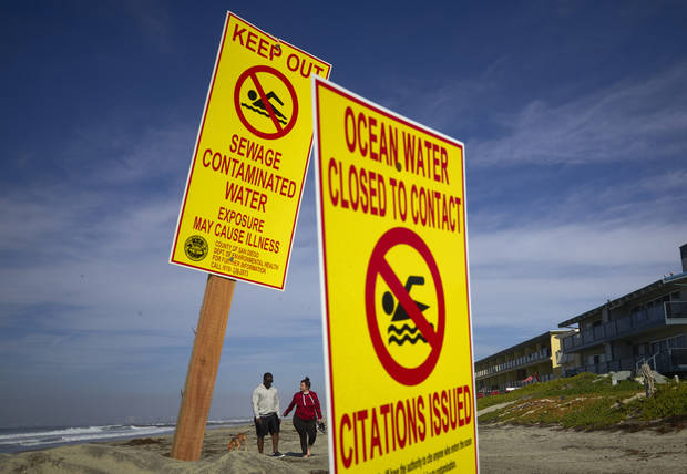 Sewage from Mexico spill flows north into California waters