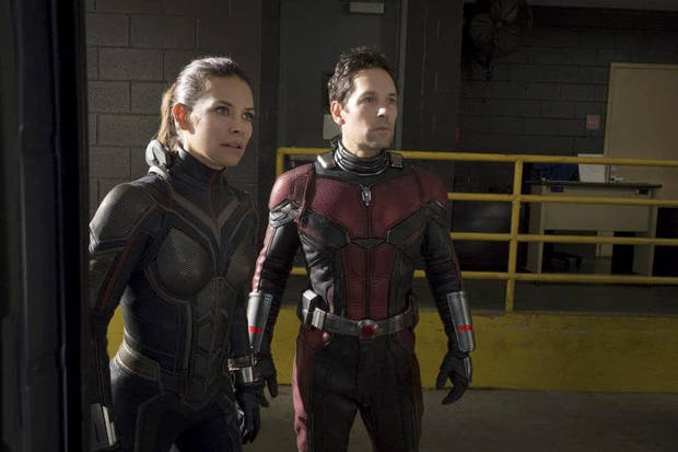 "The Wasp (Evangeline Lilly) and Ant-Man (Paul Rudd) can make for a dynamic duo in""Ant-Man and the Wasp."" [Marvel Studios]"