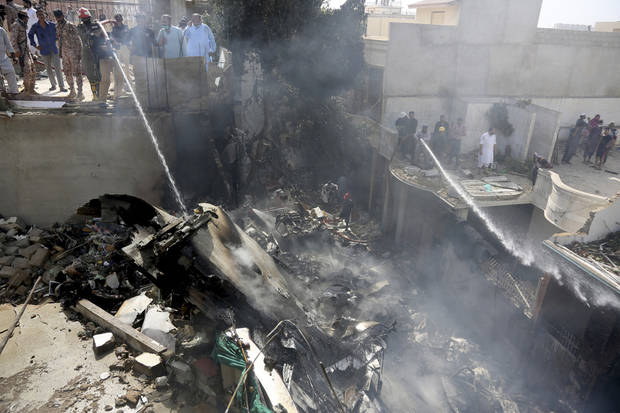 Pakistan jet with 98 aboard crashes near Karachi airport