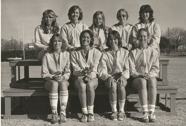 Roseann Gerah-Nida is pictured top row, second from right, above my twin Pamela Burkes-Smith.