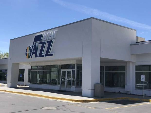 The Utah Jazz basketball campus resides in the home of a former auto dealership. (Photo by Berry Tramel)
