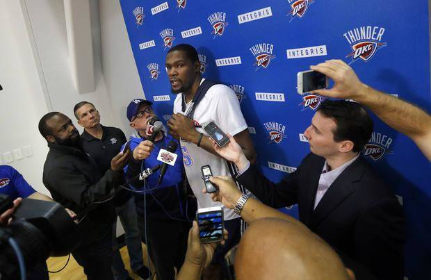 "Kevin Durant called Oklahoma City ""home"" during his first Charity Foundation fundraiser on Sunday night."