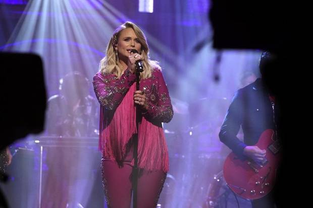 "Musical guest Miranda Lambert performs on October 31, 2019, on ""Late Night with Seth Meyers."" She will perform on CBS' broadcast of Macy's Thanksgiving Day Parade. [Photo by Lloyd Bishop/NBC]"