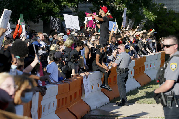 Photo gallery: Peaceful protest in OKC Sunday turns chaotic