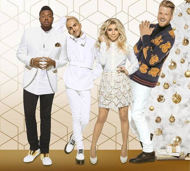 a very pentatonix christmas pictured a very pentatonix christmas key art