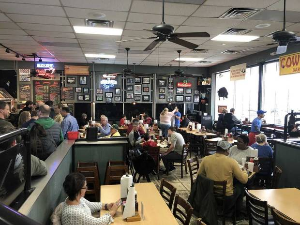 The dining room at Joe's Kansas City Bar-B-Que. (Photo by Berry Tramel)