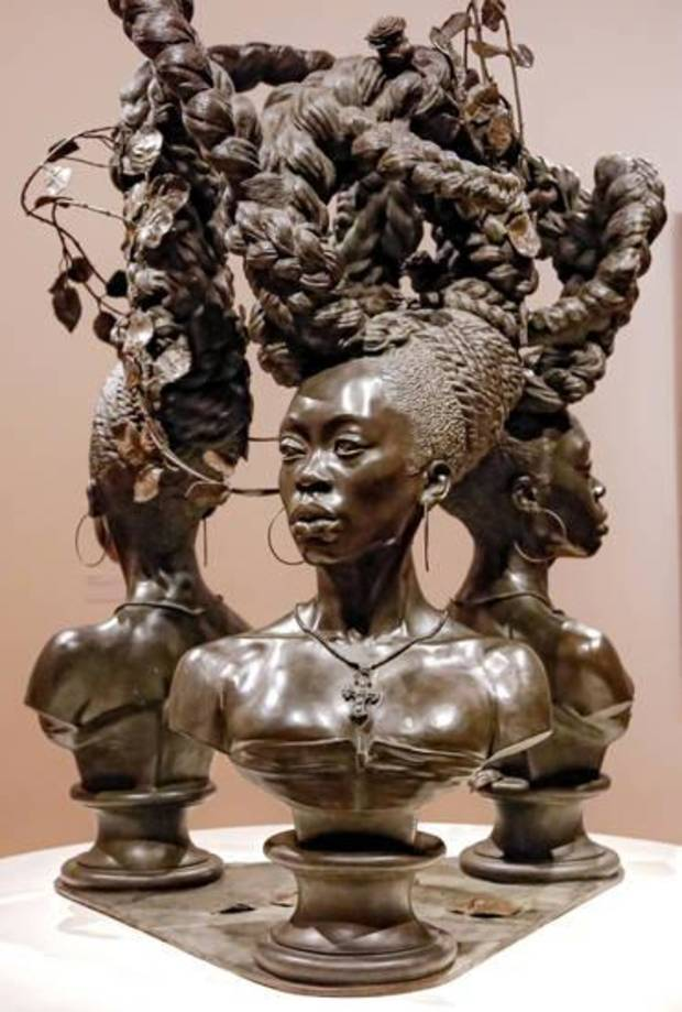 "The sculpture ""Bound"" by artist Kehinde Wiley is on view in the exhibit ""Kehinde Wiley: A New Republic"" at the Oklahoma City Museum of Art in Oklahoma City. Photo by Chris Landsberger, The Oklahoman"