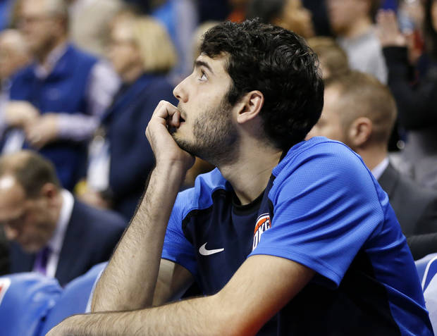 The Thunder waived Alex Abrines on Saturday after three seasons in Oklahoma City. Oklahoma City won 118-112. Photo by Nate Billings, The Oklahoman