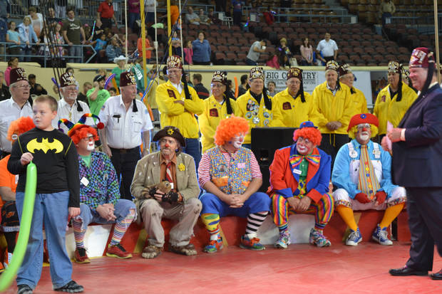 Local Shriners and their clown unit bring joy to kids. Photo provided by OKC India Shriners.
