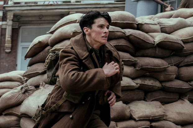 "The viewpoint of British soldier Tommy (Fionn Whitehead) is one of the narratives explored in the movie ""Dunkirk."" [Photo provided by Melinda Sue Gordon - Warner Bros. Pictures]"