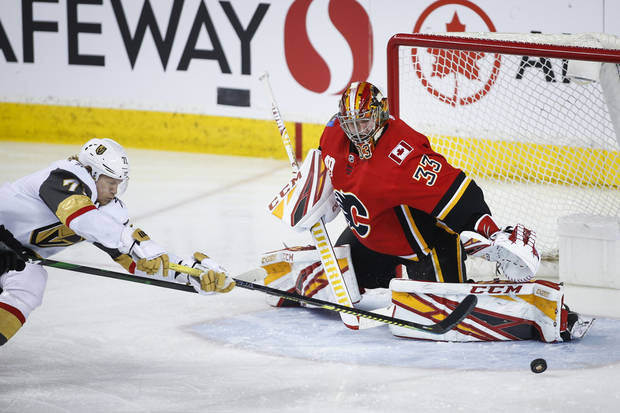 Theodore's scores late, Golden Knights beat Flames 5-3