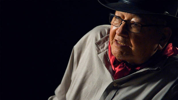 "Oklahoma-born Native American author and poet N. Scott Momaday appears in the documentary ""Words from a Bear."" [Sundance Institute photo]"