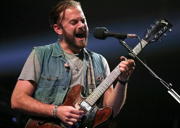 "Caleb Followill of Kings of Leon performs during the ""Rock for Oklahoma"" concert at the Chesapeake Energy Arena in Oklahoma City, Tuesday, July 23, 2013. The show will benefit central Oklahoma community organizations and charities helping tornado victims.[Bryan Terry/The Oklahoman Archives]"
